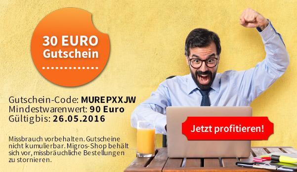 30 Euro Gutschein (MBW 90 Euro) für migros-shop.de